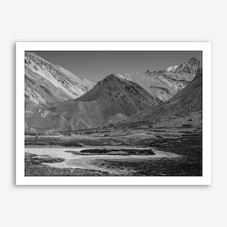 Gray Mountains Art Print