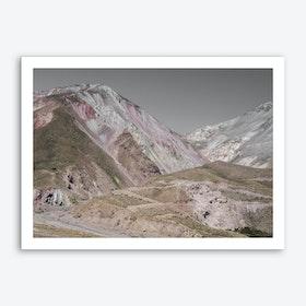 Rose Mountains Art Print