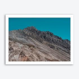 Textured Mountain Art Print