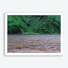 Lake Surrounded by Green Mountains Art Print