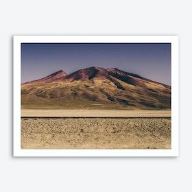 Mountain in the Desert Art Print