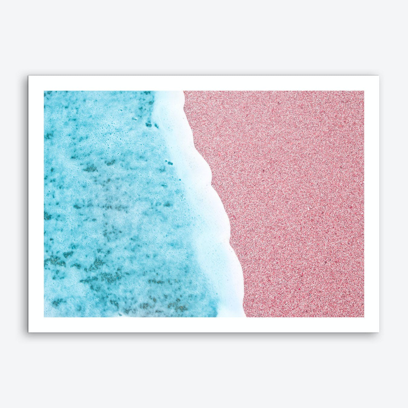 Rose Beach Art Print
