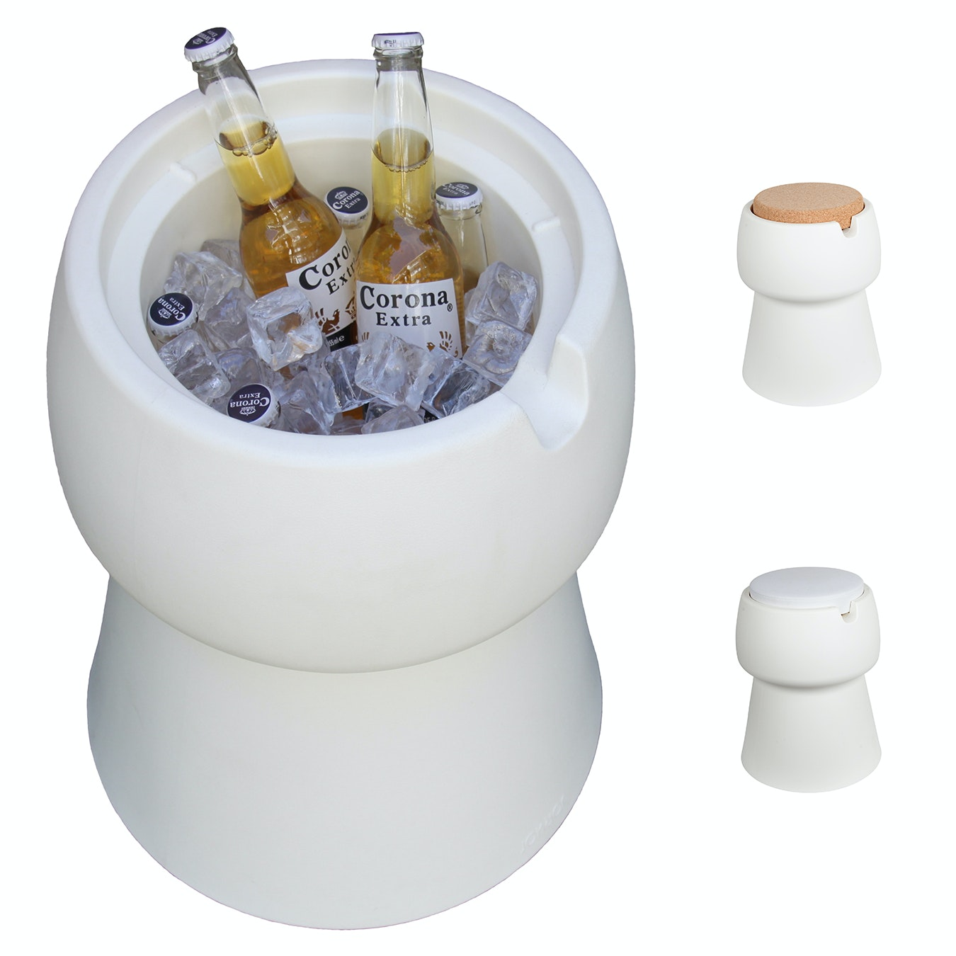 Terrific Champ Stool Cooler In White Cork White Outdoor Cushion Lamtechconsult Wood Chair Design Ideas Lamtechconsultcom