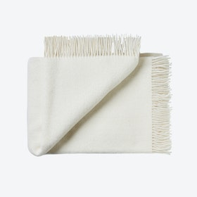 Athen Wool Throw in White
