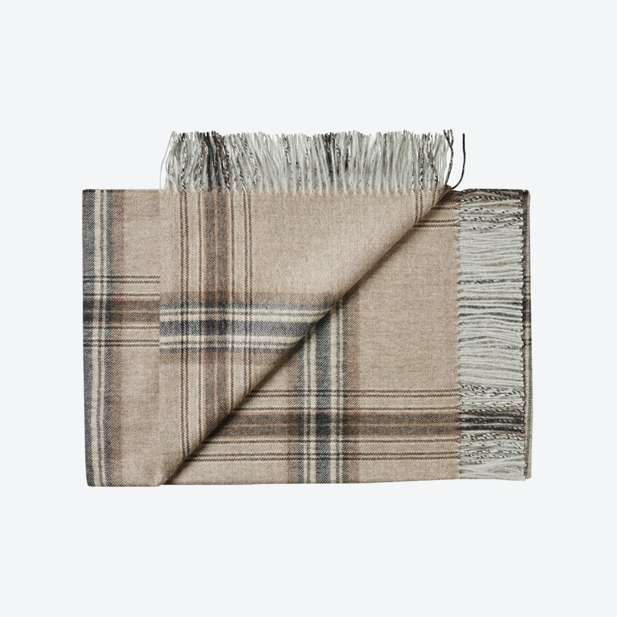 Buenos Aires Baby Alpaca Throw in Brown