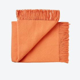 Athen Wool Throw in Coral