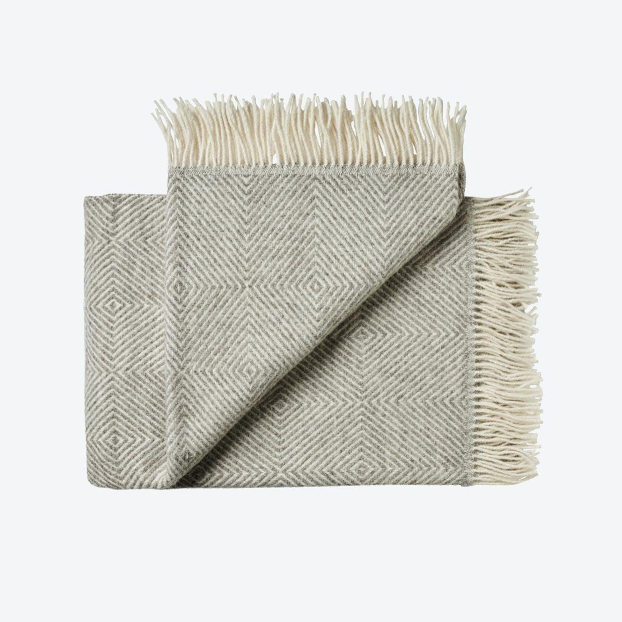 Fanø Wool Throw in Grey