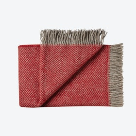 Fanø Wool Throw in Red