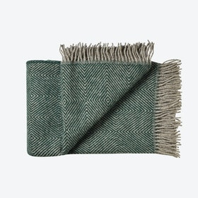 Fanø Wool Throw in Green