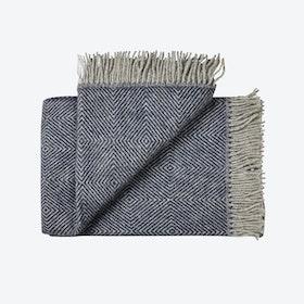 Fanø Wool Throw in Blue