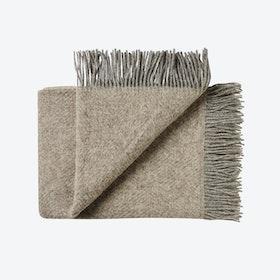 Fanø Wool Throw in Sand