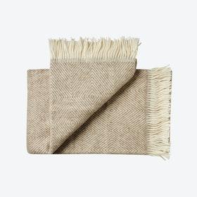 Fanø Wool Throw in Beige