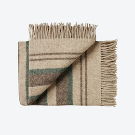 Fejø Wool Throw in Green-Brown
