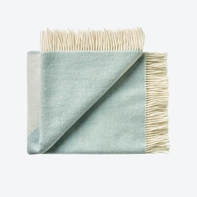 Focus on Twill Wool Throw in Ice-Blue