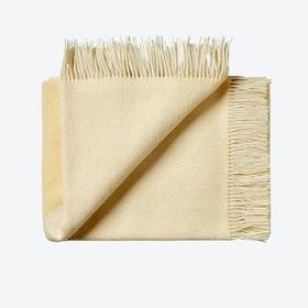 Focus on Twill Wool Throw in Light-Yellow