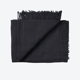 Athen Wool Throw in Black