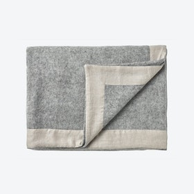 Gotland Wool Throw in Light Grey