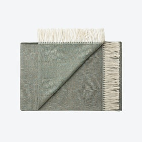 La Paz Baby Alpaca Throw in Green