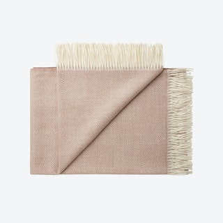 La Paz Baby Alpaca Throw in Rose