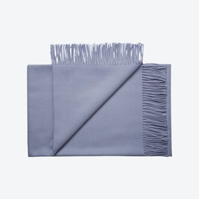 Lima Baby Alpaca Throw in Sky-Blue