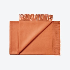 Lima Baby Alpaca Throw in Rust-Orange