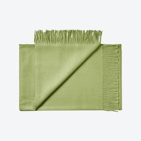 Lima Baby Alpaca Throw in Olive-Green