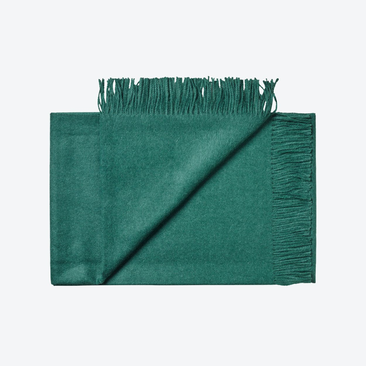 Lima Baby Alpaca Throw in Dark Green