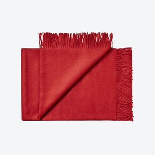 Lima Baby Alpaca Throw in Blood-Red