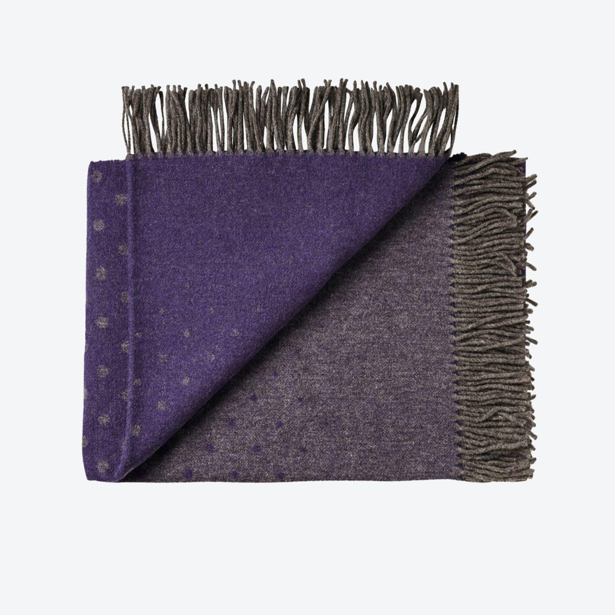 Madrid Alpaca/Wool Throw in Purple