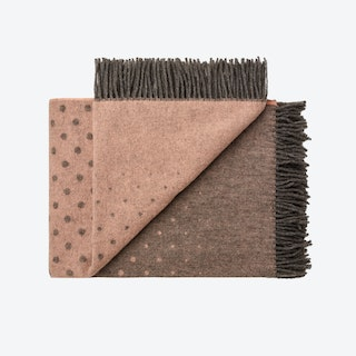Madrid Alpaca/Wool Throw in Fawn-Rose