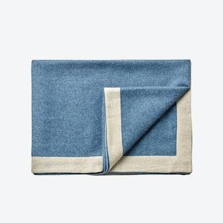 Mendoza Baby Alpaca Throw in Jeans-Blue