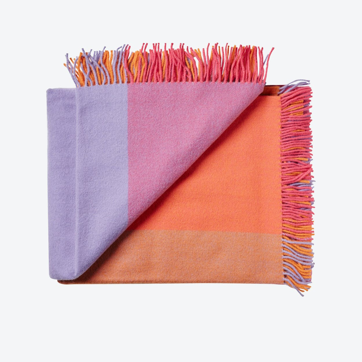 Miami Wool Throw in Pink