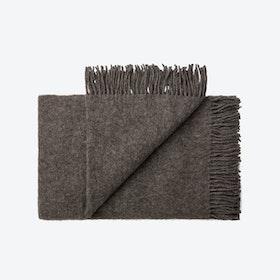 Oxford Alpaca/Wool Throw in Grey