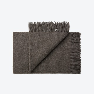Oxford Alpaca/Wool Throw in Grey