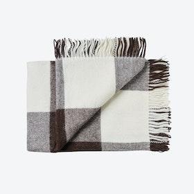 Oxford Alpaca/Wool Throw in White-Brown