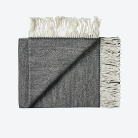 Porto Wool Throw in Black