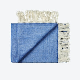 Porto Wool Throw in Blue