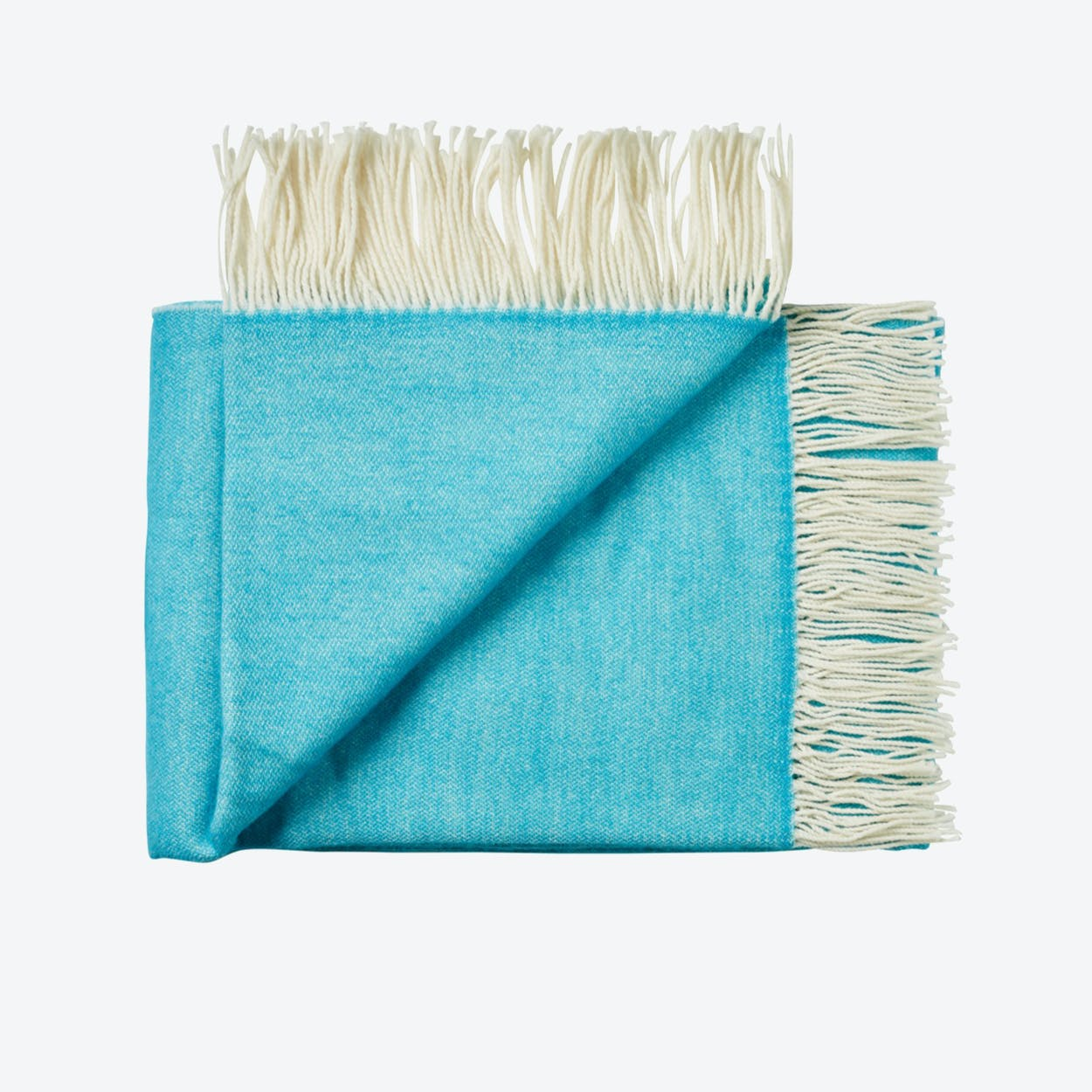 Porto Wool Throw in Turquoise