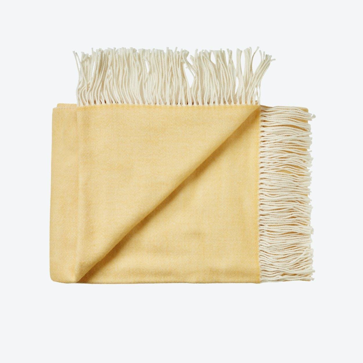 Porto Wool Throw in Yellow