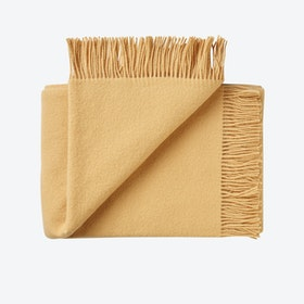 Athen Wool Throw in Curry