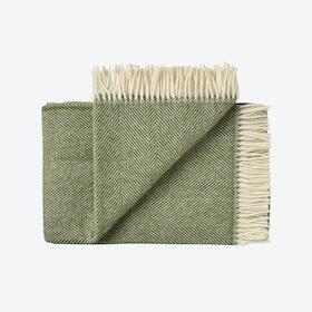 Rømø Wool Throw in Green
