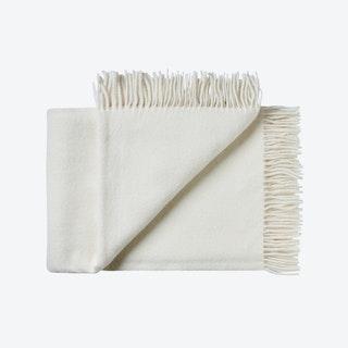 Samsø Wool Throw in White