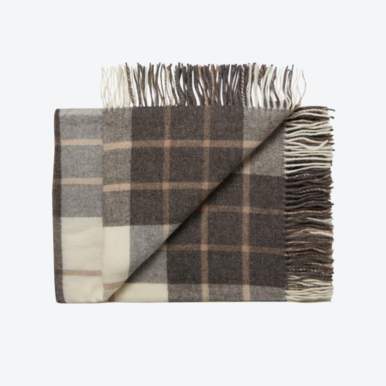 Valencia Alpaca/Wool Throw in Brown-stripes