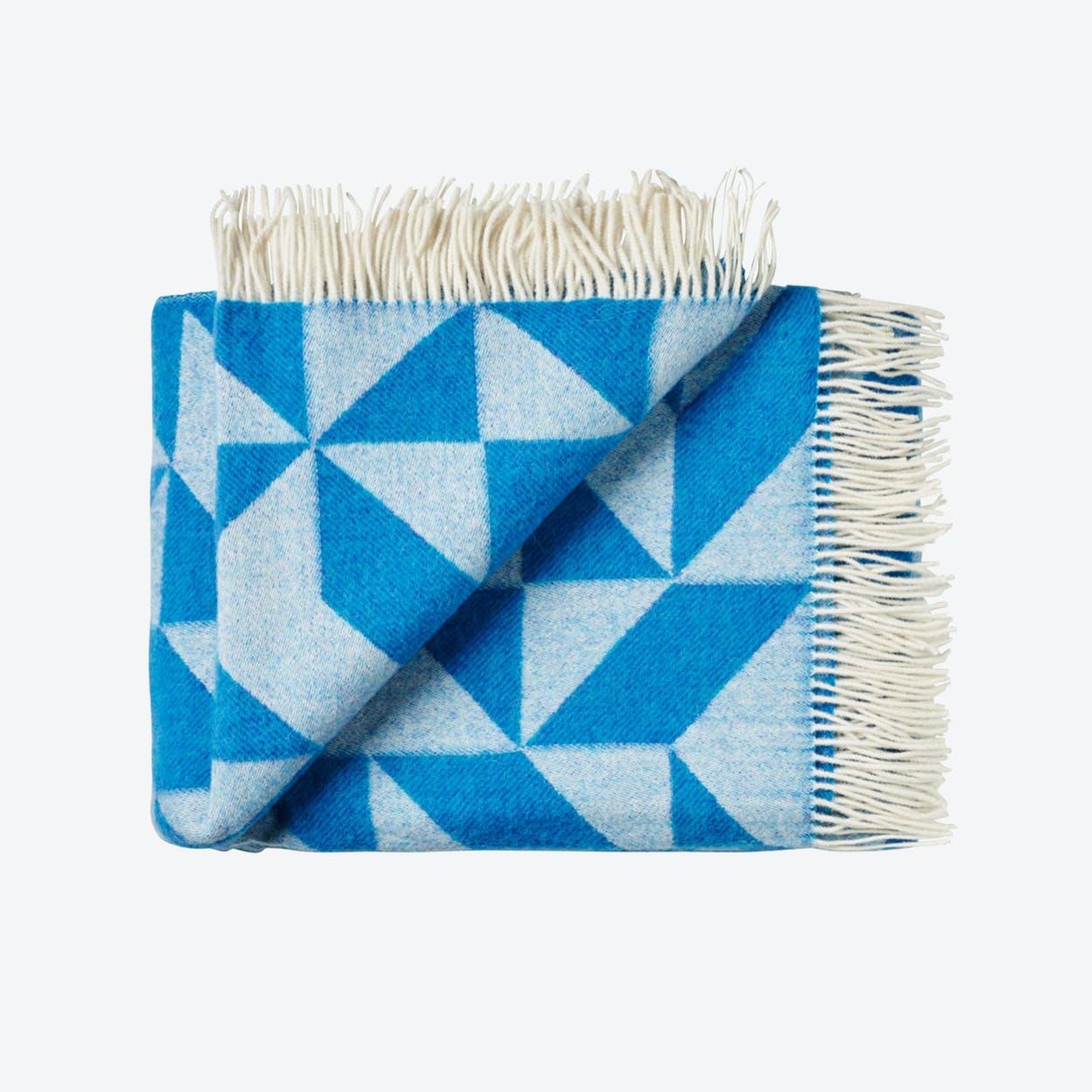 Twist A'Twill Wool Throw in Blue