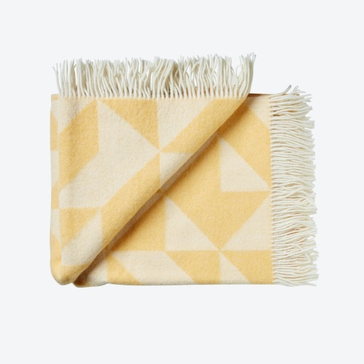 Twist A'Twill Wool Throw in Yellow