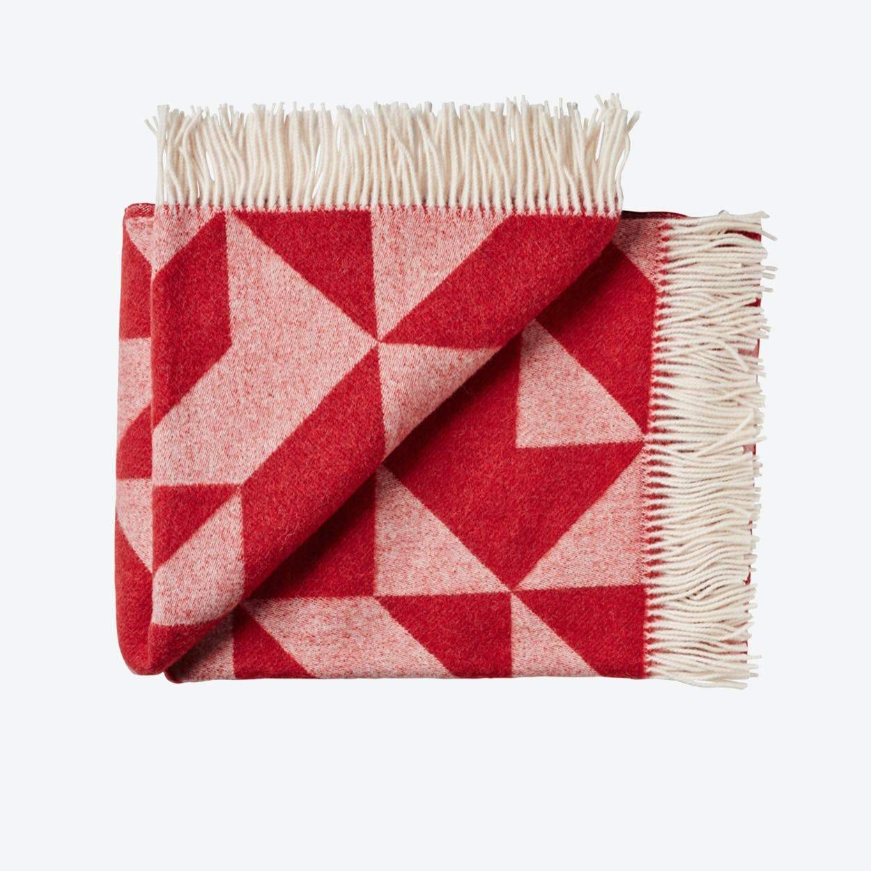 Twist A'Twill Wool Throw in Red
