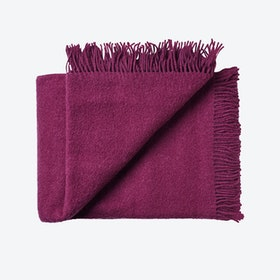 Athen Wool Throw in Aubergine-Purple
