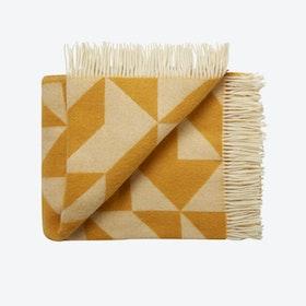 Twist A'Twill Wool Throw in Corn-Yellow
