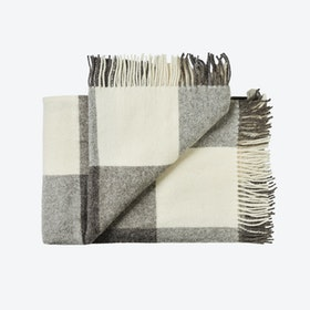 Ærø Wool Throw in White-Grey