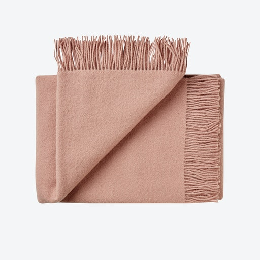 Athen Wool Throw in Fawn-Rose
